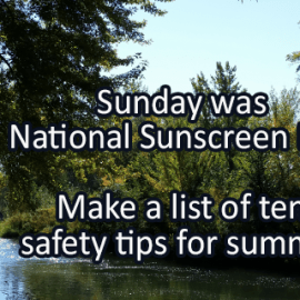 Writing Prompt for May 29: Sunscreen