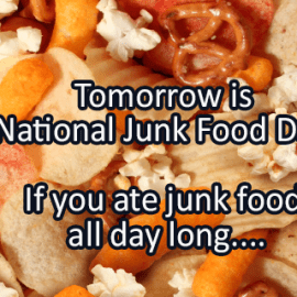 Writing Prompt for July 20: Junk Food