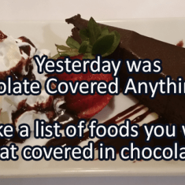 Writing Prompt for December 17: Chocolate Covered