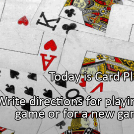 Writing Prompt for December 28: Play Cards