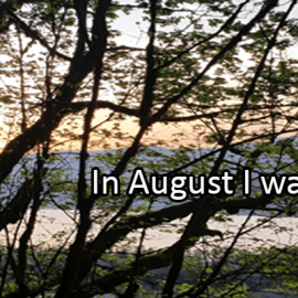 Writing Prompt for August 3: Try in August