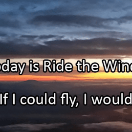 Writing Prompt for August 23: Ride the Wind!