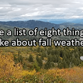 Writing Prompt for September 23: Fall Weather