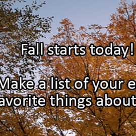 Writing Prompt for September 22: Fall