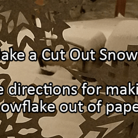 Writing Prompt for December 27: Paper Snowflake