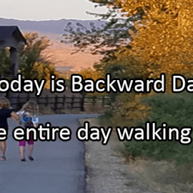 Writing Prompt for January 31: Backward Day