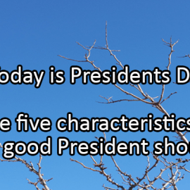 Writing Prompt for February 17: Presidents Day