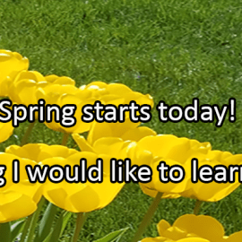 Writing Prompt for March 19: Spring!
