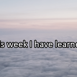 Writing Prompt for June 12: Learned This Week