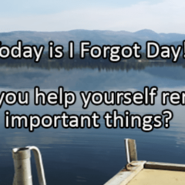 Writing Prompt for July 2: Forgot Day