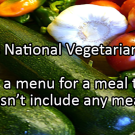 Writing Prompt for October 26: Vegetarian Meal