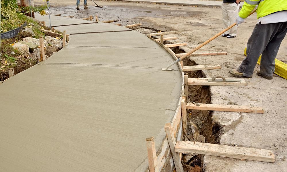 bordures de ciment travaux de beton