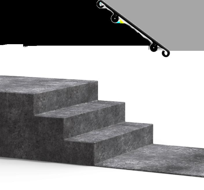 Diy Handrails Fortin Ironworks   Outdoor Railings For Concrete Steps   Front Porch   Concrete Slab   Railing Ideas   Steel Handrail   Brick
