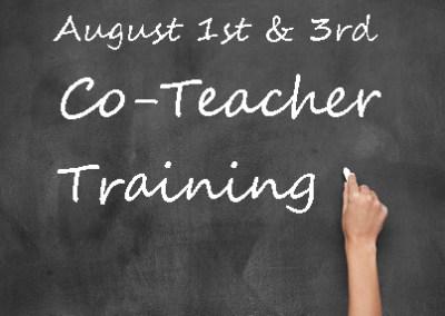 All Parent Co-Teacher Training