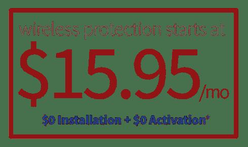 $15.95 Wireless Alarm Security Monitoring