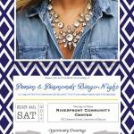 Denim & Diamonds BINGO night flyer