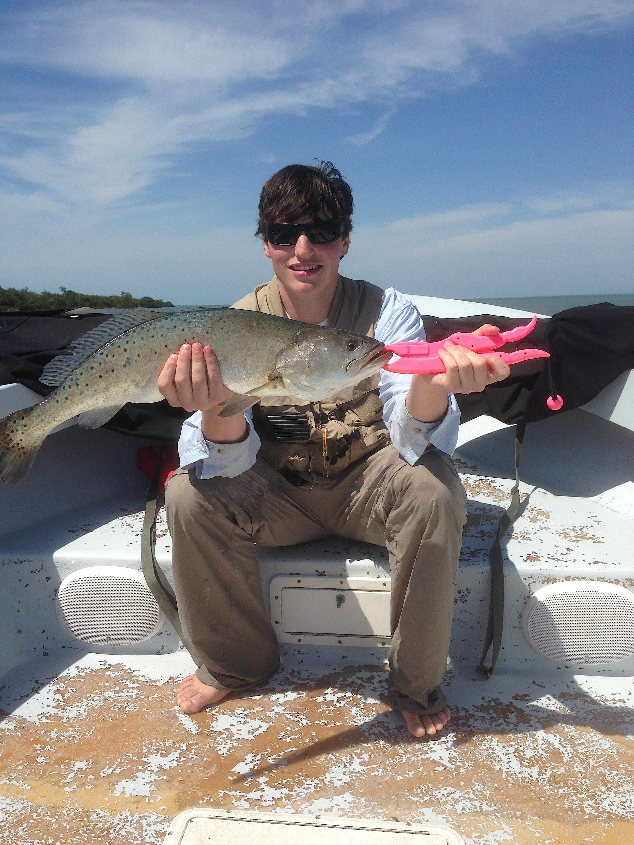 9 30 13 fort myers fishing report big sea trout sanibel for Fishing charters fort myers
