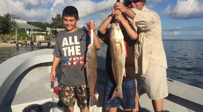 Fort Myers Fishing Report, Two Redfish, Friday, September 30, 2016.