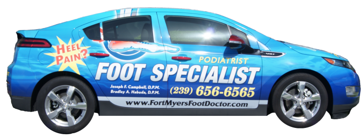 fort-myers-podiatrist-car
