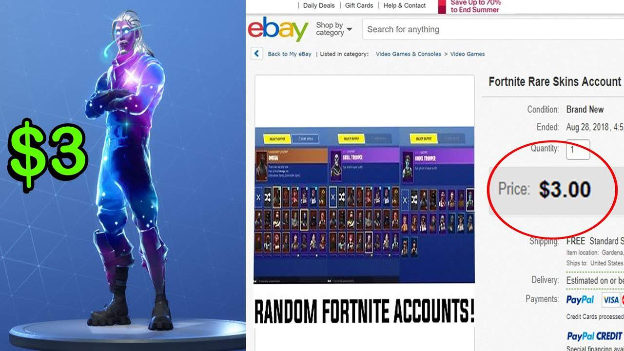 Fortnite hackers making a fortune from reselling stolen accounts