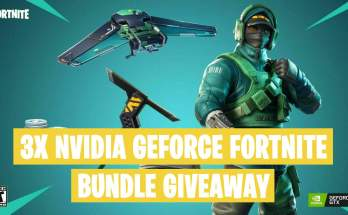 3x Nvidia GeForce Fortnite Bundle Giveaway February 2019