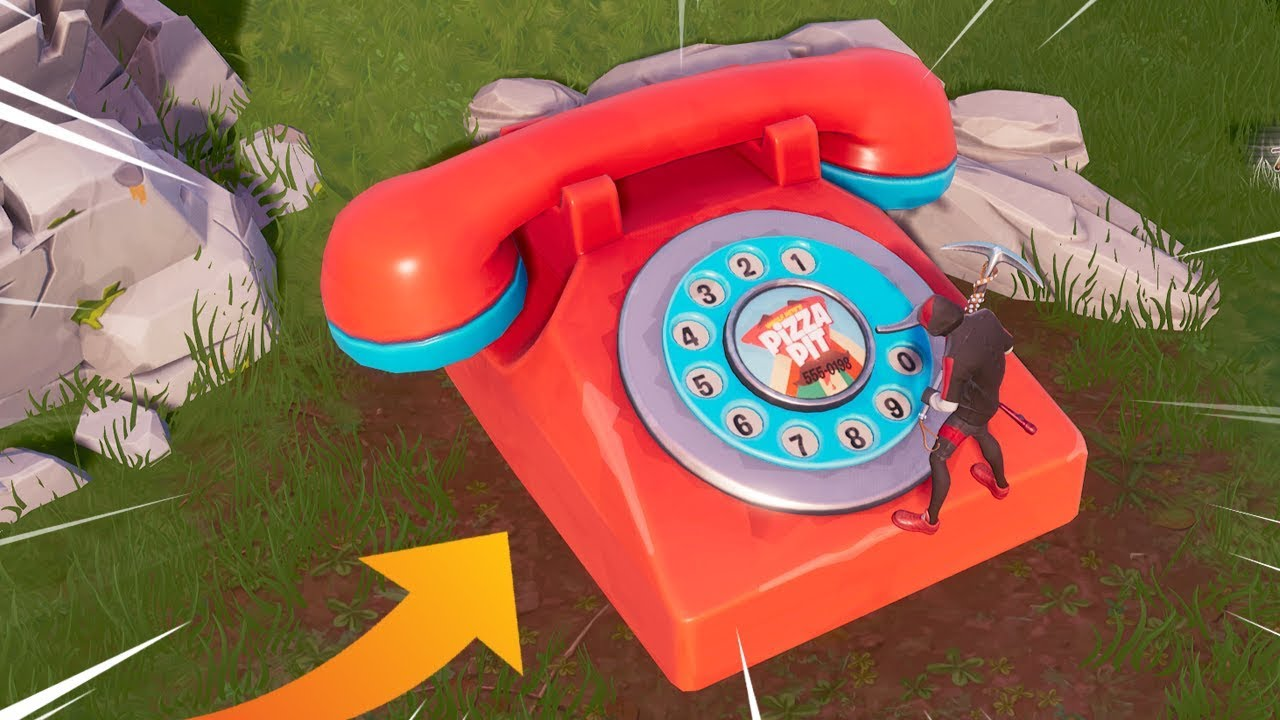 fortnite battle royale players have been handed a much more interesting set of challenges for week 8 season 8 and to complete them they re going to have - fortnite giant phone number