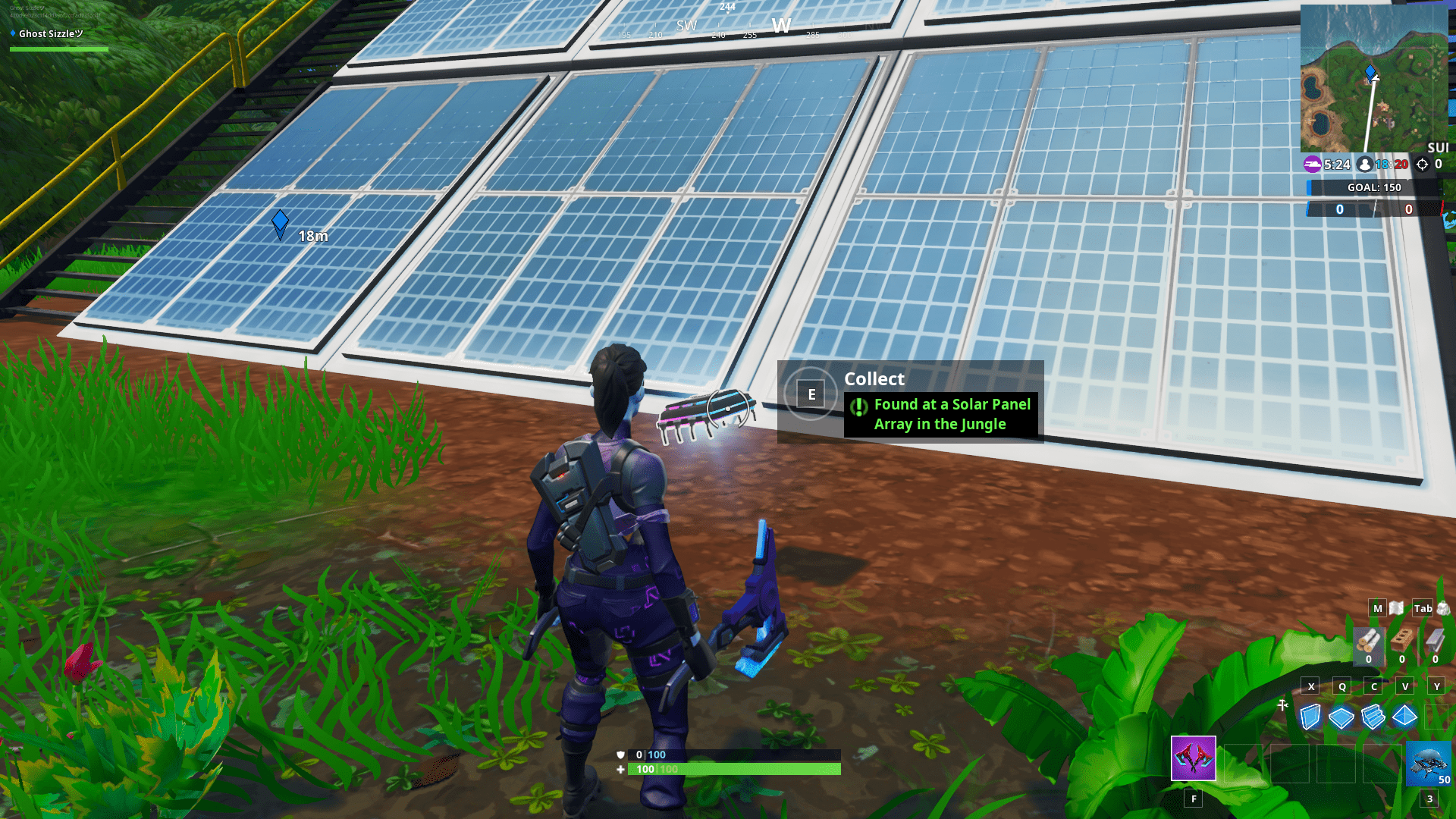 found at a solar panel array in the jungle