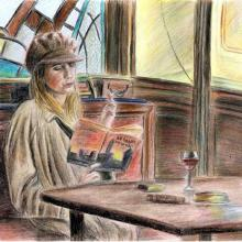 Shosanna_in_cafe_by_Millight