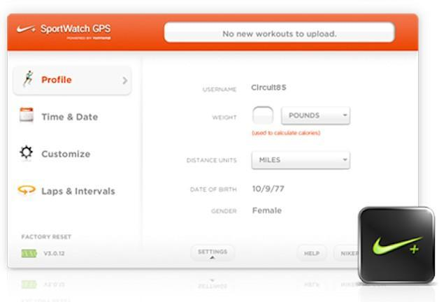 Nike+ SportWatch GPS - Software