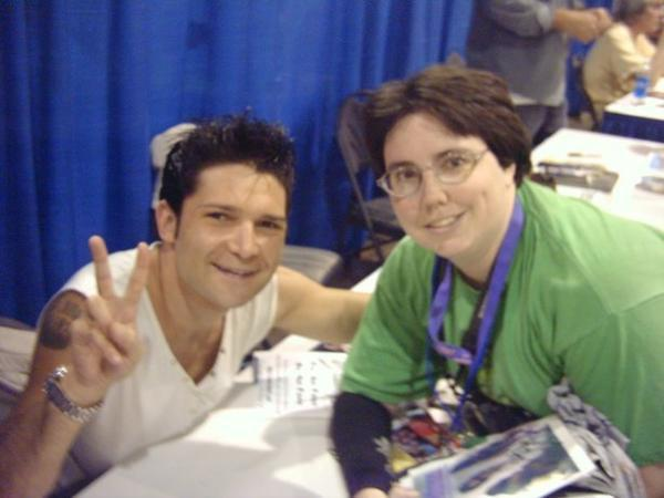 With Corey Feldman (the voice of Donatello in TMNT 1 & 3)