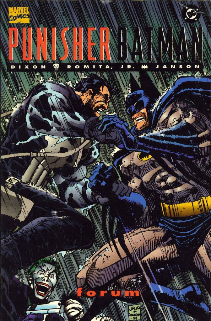 batman vs punisher comic book