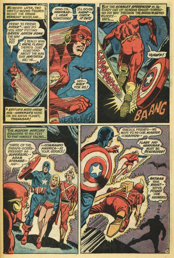 A Stranger Walks Among Us! JLA 103 FlashvCaptainAmerica