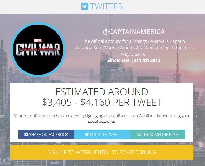 captain america twitter webfluential