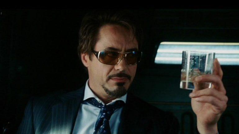 Tony Stark alcholic