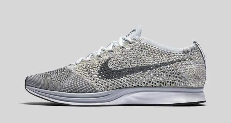 A Guide To New Sneakers Released In October Nike Flyknit Racer Pure Platinum