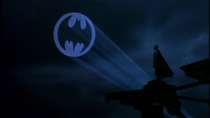 civilian operates Bat signal