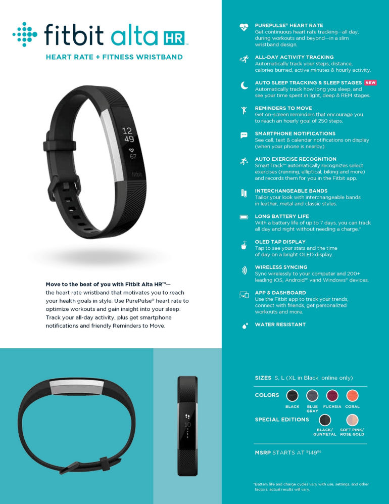 Fitbit Launches the Alta HR in South Africa - The World's Slimmest Fitness Wristband