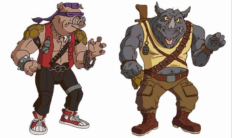 The Teenage Mutant Ninja Turtles Bebop Rocksteady