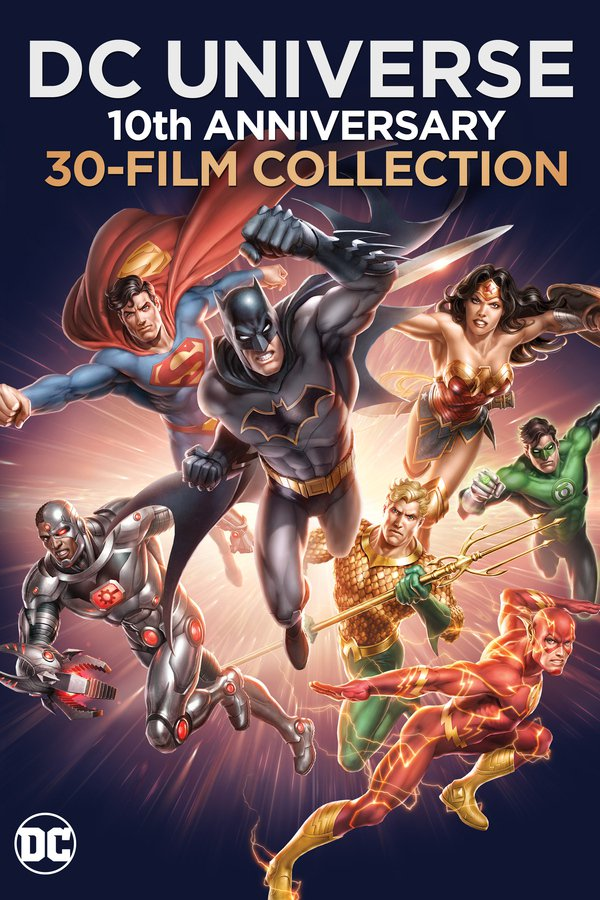 DC Animated Movies Celebrate 10th Anniversary with Blu-Ray Collection