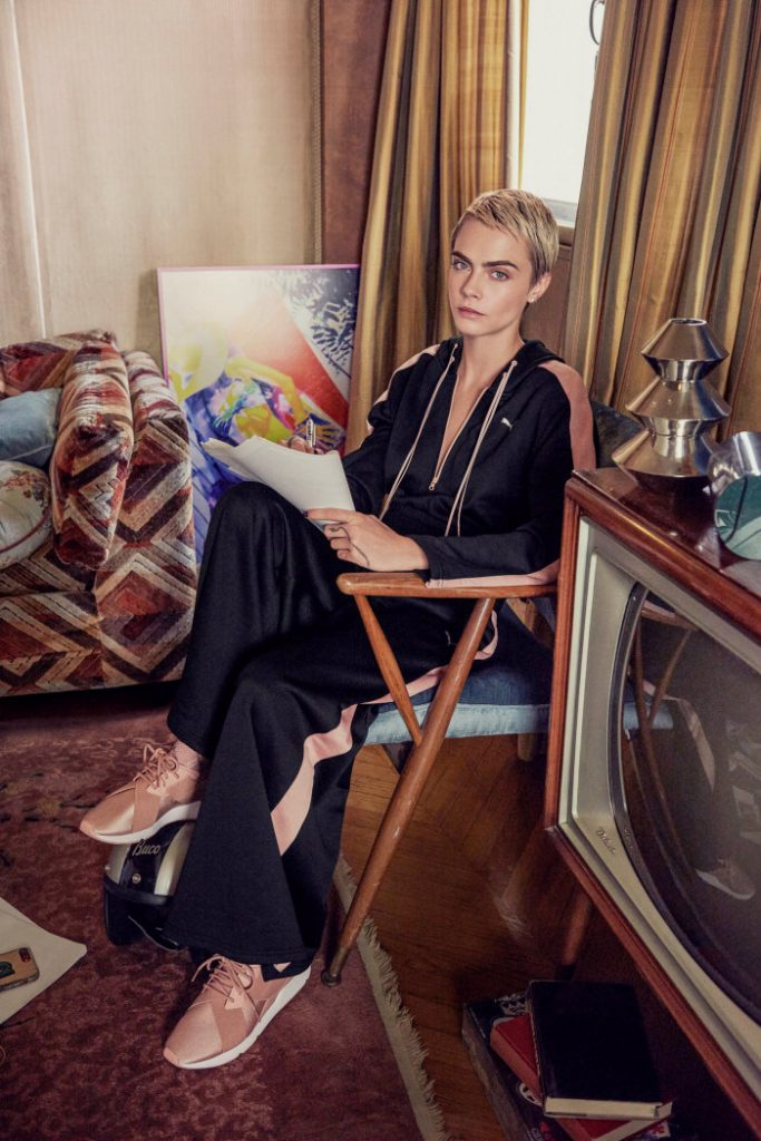 Puma Teams Up With Cara Delevingne For Puma Muse Satin