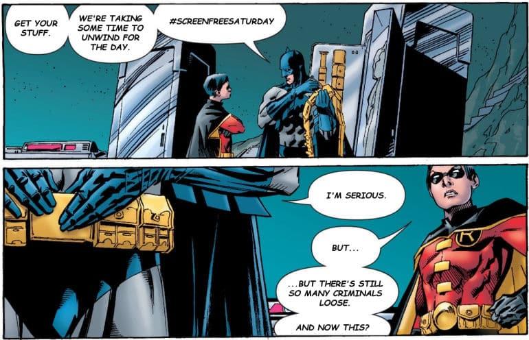 BOS #ScreenFreeSaturday Campaign - Batman Goes Fishing