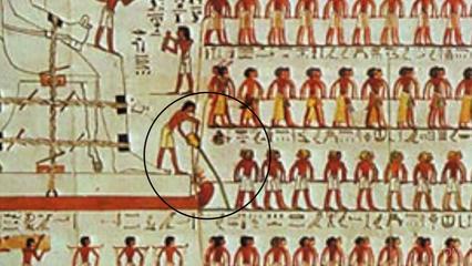 Particolare del dipinto murale della tomba di Djehutihotep