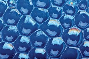 Cluster di bolle di sapone