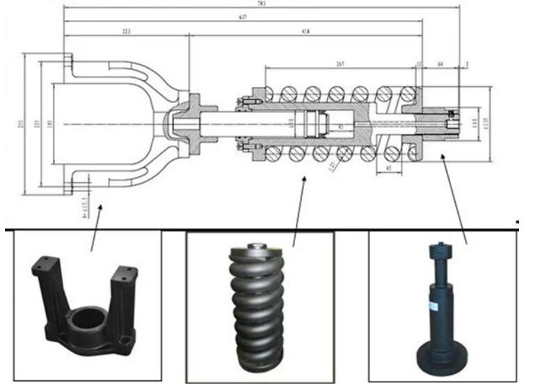 Excavator idler track adjuster for Doosan DX225LCA DX300LC