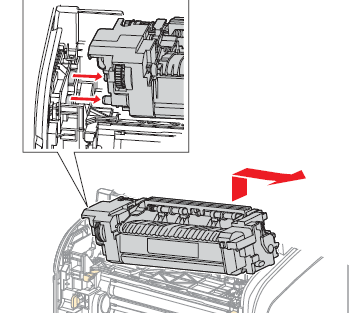 How to replace fuser unit for Xerox Phaser 6500 / WC 6505