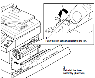 Xerox WorkCentre 4150 Fuser Assembly Removal and Reset
