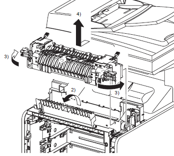 Dell 3115cn Fuser Replacement Procedure with Illustrations