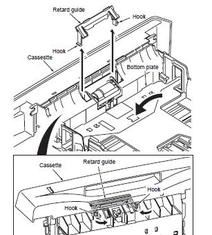 Kyocera FS1028MFP Pick Up Roller Removal for Paper Jams