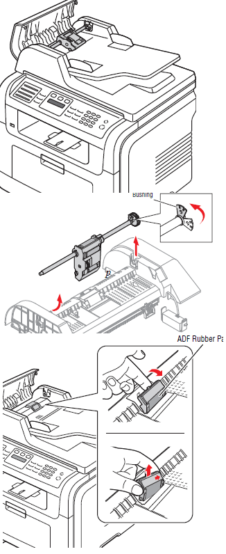 Ricoh AC205L ADF Multiple Feeding Troubleshooting B273-9674