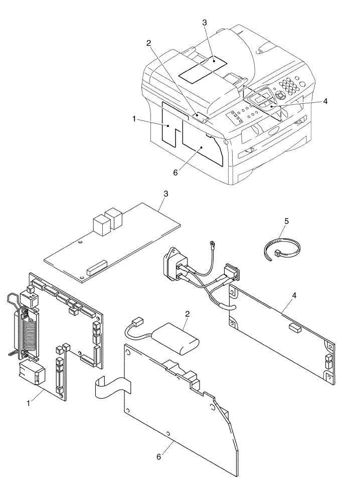Wiring Diagram: 31 Brother Printer Parts Diagram